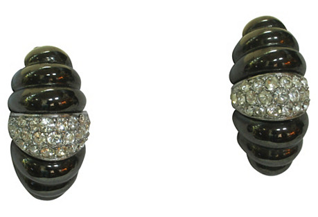 Givenchy Crystal Modernist Earrings