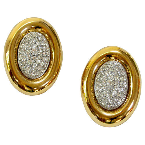 Givenchy Gold & Crystal Earrings