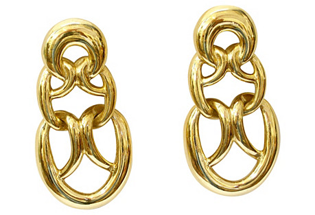 Givenchy Statement Gold-Plated Earrings