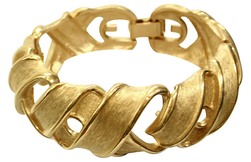 Givenchy Textured Ribbon Bracelet