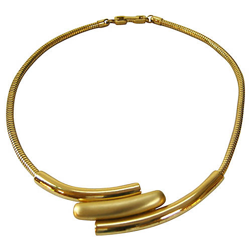 Givenchy Modernist Two-Tone Necklace