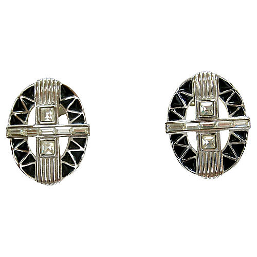 Givenchy Deco-Style Earrings