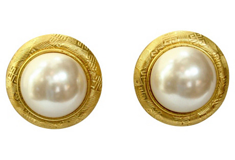 Givenchy Glass Pearl Earrings