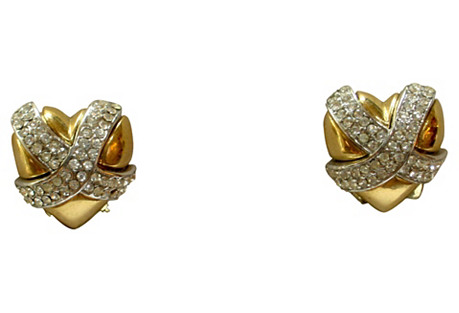 Givenchy Gold Crystal Earrings