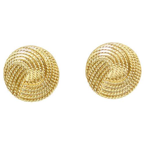 Modernist Gold Textured Earrings
