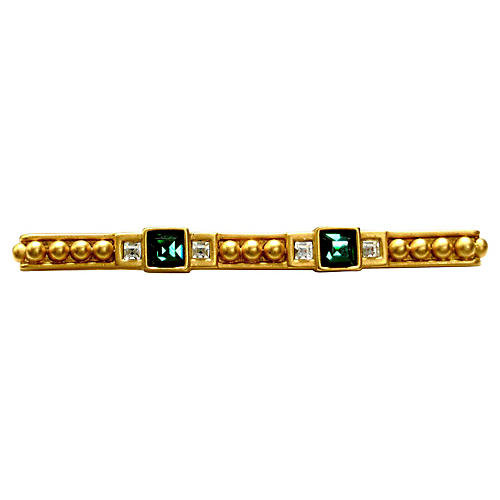 Givenchy Crystal Bar Pin
