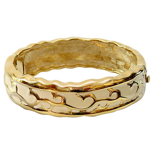 Givenchy Modernist Cream & Gold Bracelet
