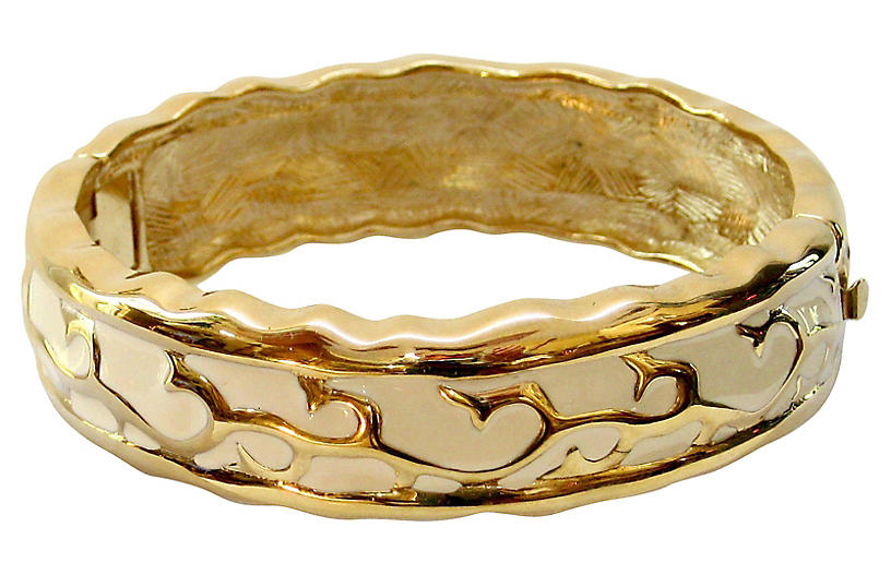 Givenchy Modernist Cream & Gold Bracelet