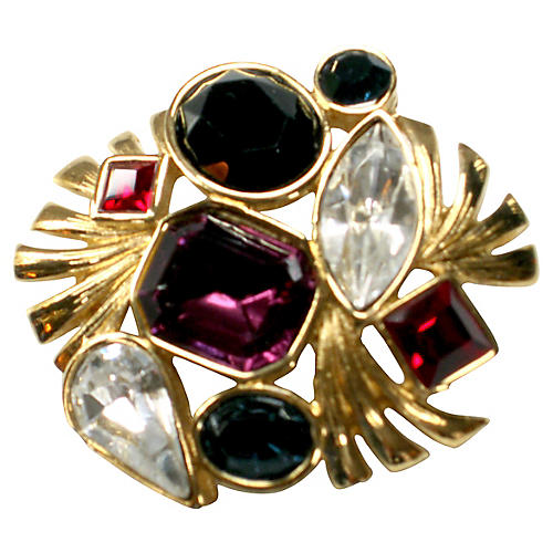 Bejeweled Crystal Brooch