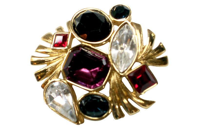 Bejeweled Crystal Brooch