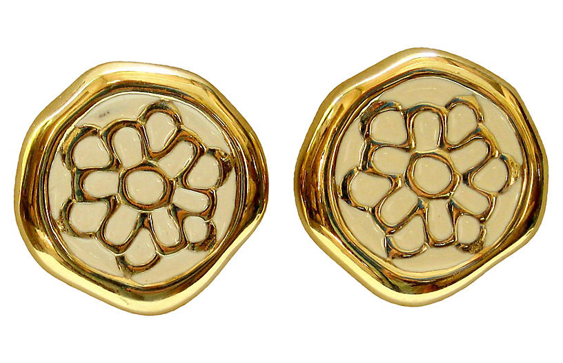 1980s Givenchy Clip-On Earrings