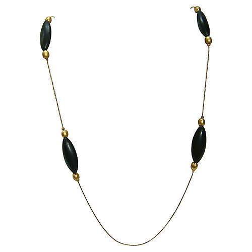 Givenchy Modernist Black & Gold Necklace