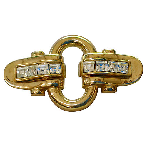 Givenchy Gold & Crystal Brooch