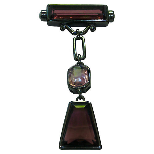 Art Deco-Style Bar Drop Brooch