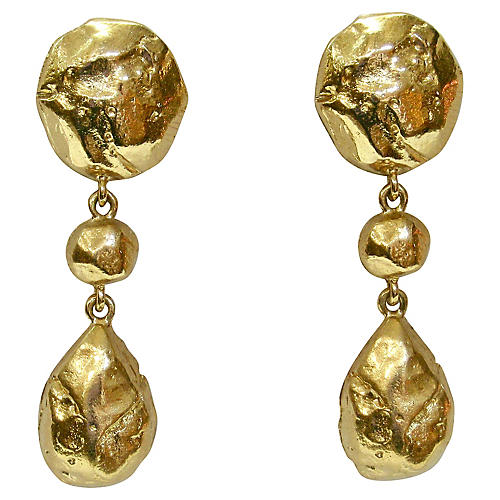 Givenchy Gold Foil Runway Earrings