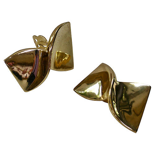 Givenchy Gold Bow Earrings