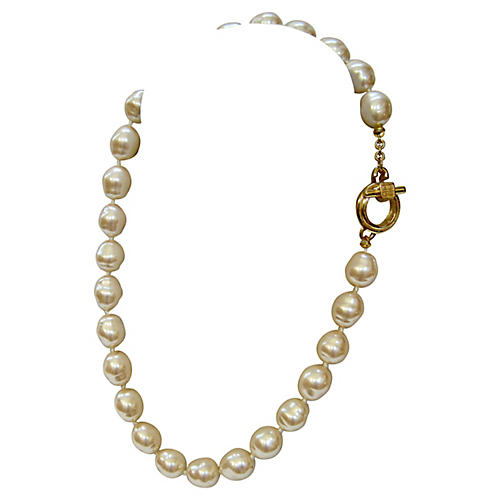 Givenchy Baroque Glass Pearl Necklace