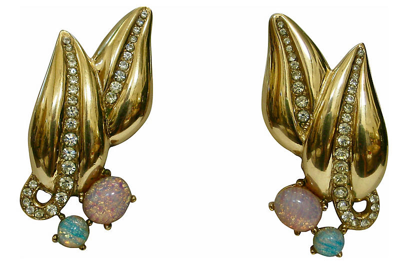 Givenchy Faux-Opal Crystal Earrings