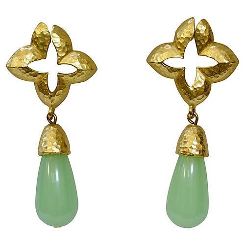 Givenchy Faux-Jade Drop Earrings
