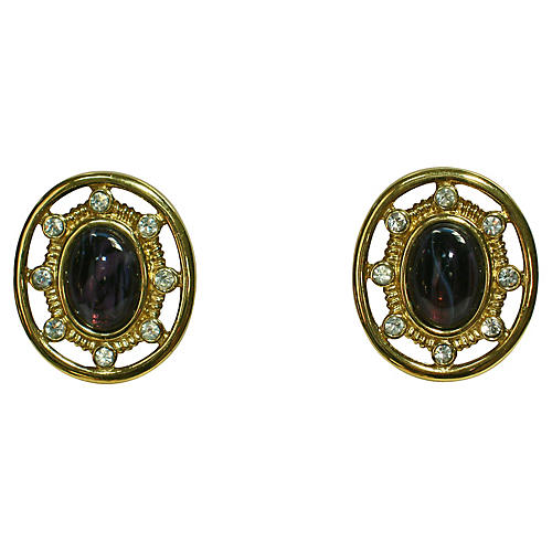 Givenchy Faux-Amethyst Earrings