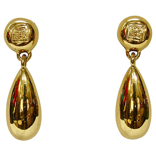 1980s Givenchy Drop Earrings