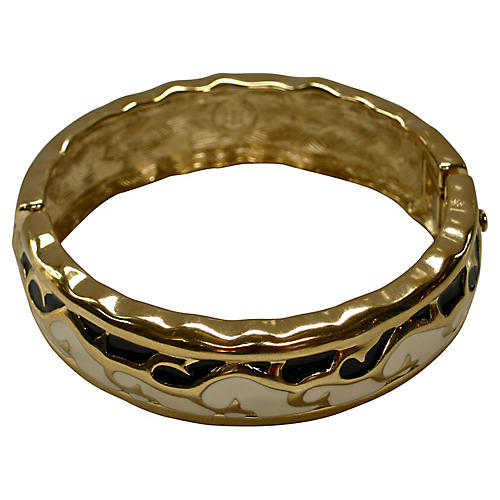 Givenchy Modernist Black & Gold Bracelet
