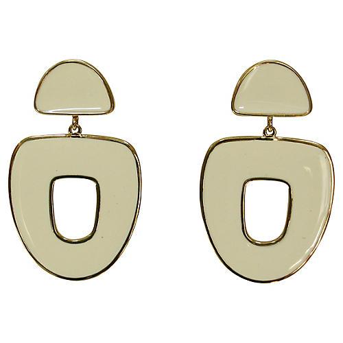 1970s Modernist Enamel Earrings