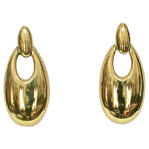 1980s Givenchy Modernist Earrings
