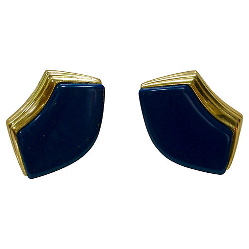 Givenchy Navy Blue Earrings