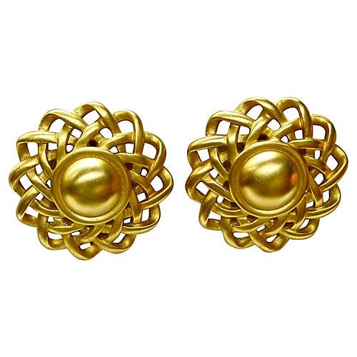 Givenchy Oversize Sunburst Earrings