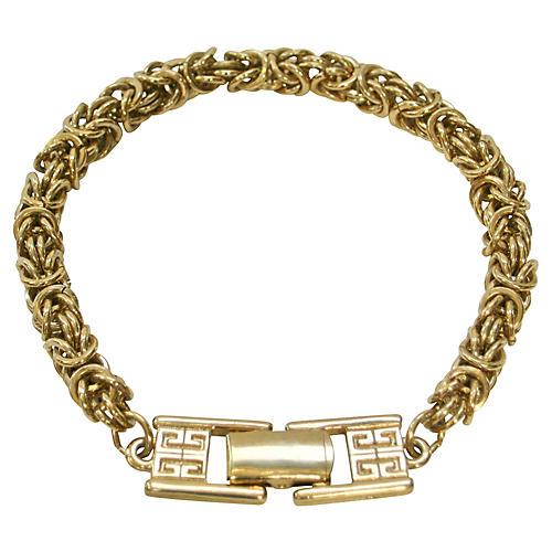 1980s Givenchy Box Link Bracelet