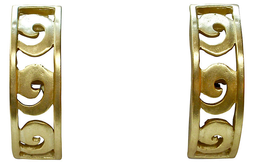 Givenchy Neoclassical-Style Earrings