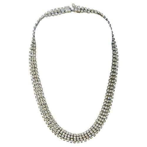 1960s Kramer Crystal Collar Necklace