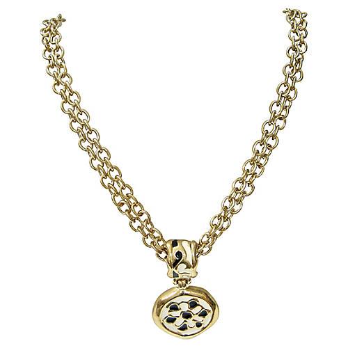 1980s Givenchy Modernist Enamel Necklace