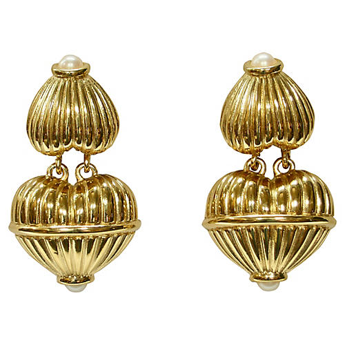 1970s Givenchy Drop Earrings