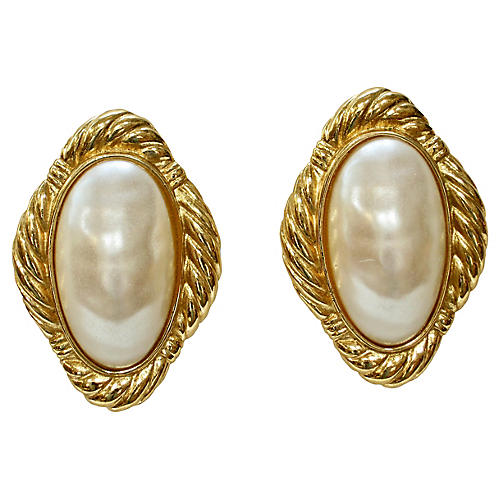 Givenchy Oversize Baroque Pearl Earrings
