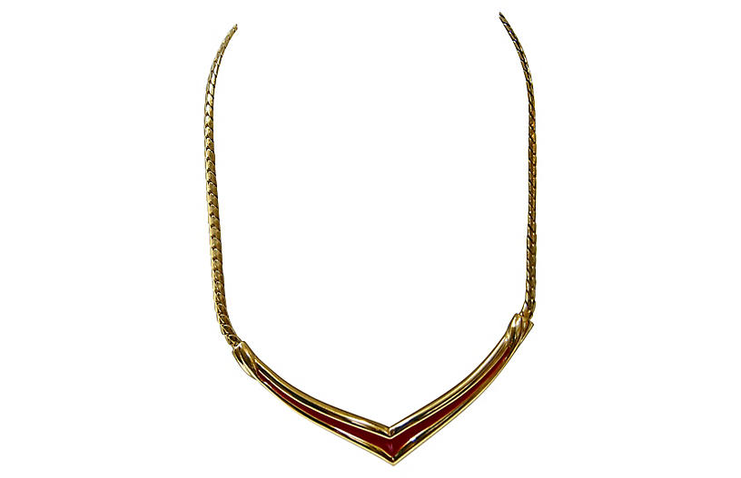 Givenchy Serpentine Gold Collar Necklace