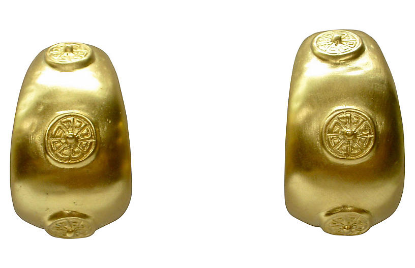 Givenchy Etruscan-Style Gold Earrings