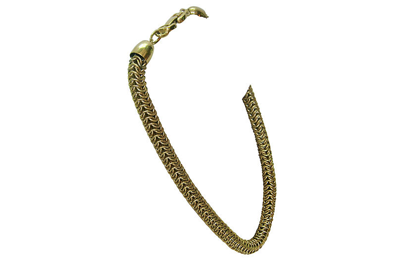 Givenchy Gold Box-Link Necklace