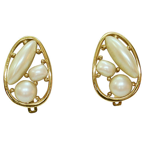 Givenchy Modernist Pearl Earrings