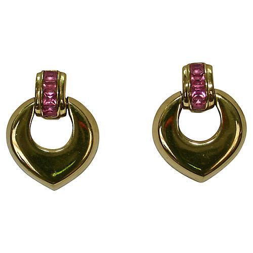 Givenchy Gold Knocker Earrings