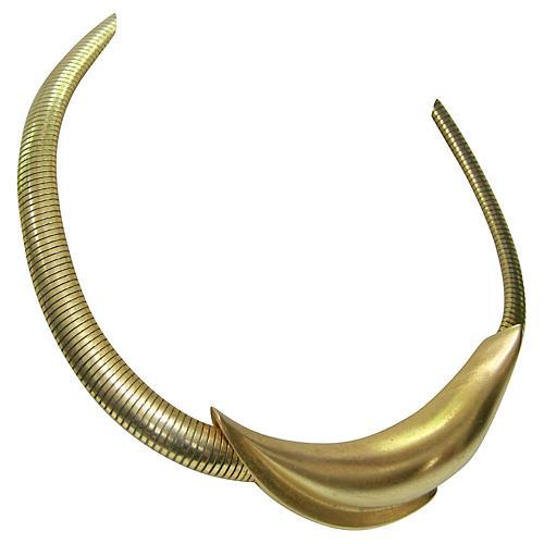 Givenchy Modernist Gold Necklace