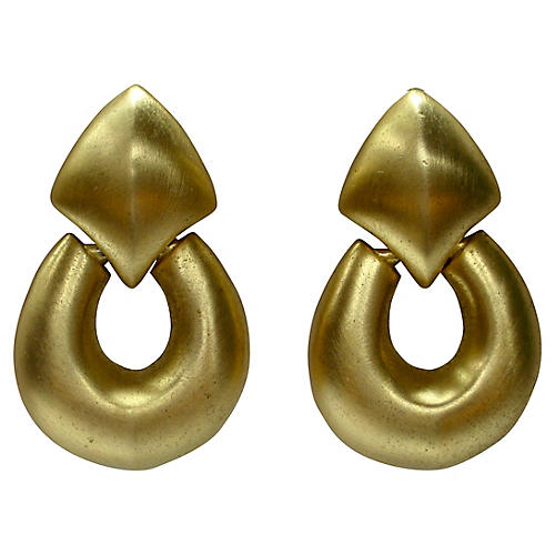 Givenchy Large Gold Knocker Earrings