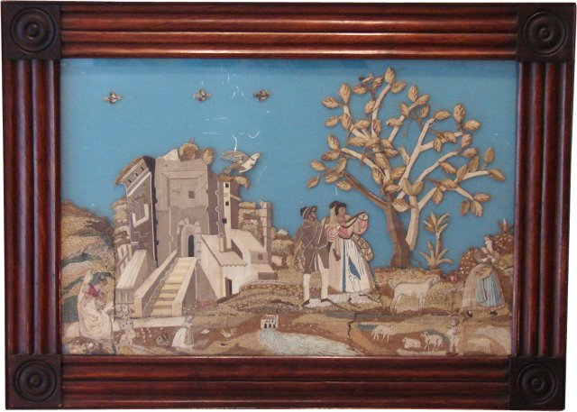 Antique English Embroidery Collage