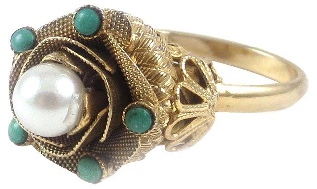 Gold-Filled Adjustable Ring