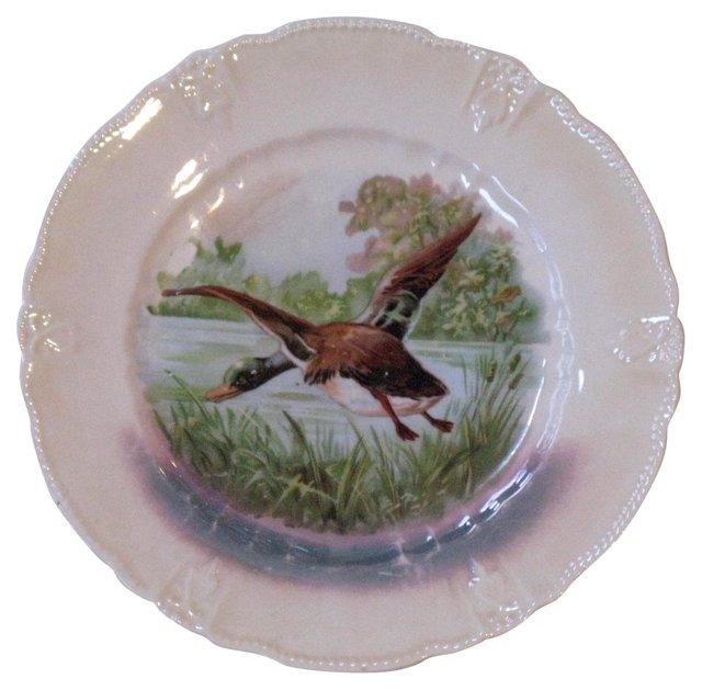Opalescent Duck Porcelain Plate