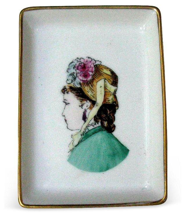 France Limoges Portrait Dish