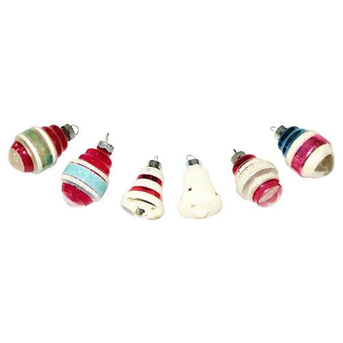 Shiny Brite Ornaments, S/6
