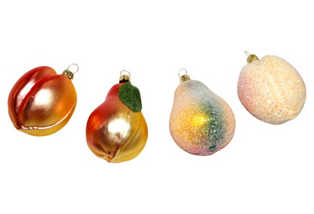 Fruit Ornaments, S/4