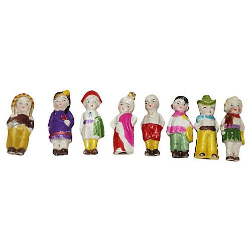 Japanese Bisque Dolls, S/8